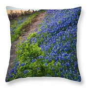 Flower Mound Throw Pillow by Inge Johnsson