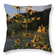 Flower Mountain View Throw Pillow