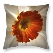 Flower Narcissus Throw Pillow