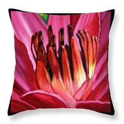 Flower Number One Throw Pillow