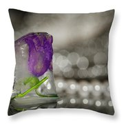 Flower Of Ice Throw Pillow
