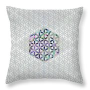 Flower Of Life Abalone Shell On Pearl Throw Pillow