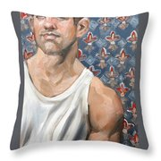 Flower Of Louis, 11x14 Inches Ol On Panel By Kenney Mencher  Throw Pillow