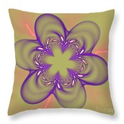 Flower Of Pink - Purple Throw Pillow