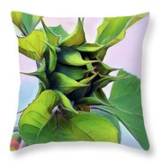 Flower Of The Sun Throw Pillow