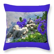 Flower Overboard Throw Pillow