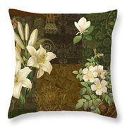 Flower Patchwork 2 Throw Pillow
