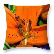 Flower Pistil Throw Pillow