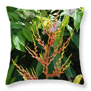 Flower Plants Throw Pillow