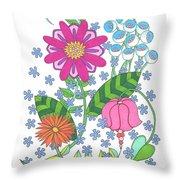 Flower Power 3 Throw Pillow