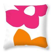 Flower Power 4- Art By Linda Woods Throw Pillow