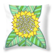 Flower Power 6 Throw Pillow
