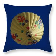 Flower Power Balloon Throw Pillow