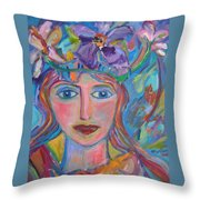 Flower Princess Throw Pillow