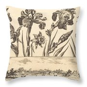 Flower Print No.3 Throw Pillow