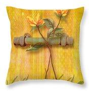 Flower Pull Throw Pillow