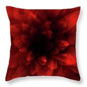 Flower  Red Shade Throw Pillow