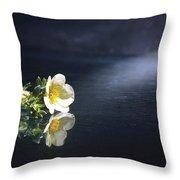 Flower Reflection Throw Pillow