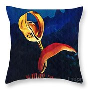 Flower Sculpture Throw Pillow