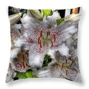 Flower Shop Lillies Throw Pillow