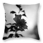 Flower Silhouette Throw Pillow
