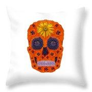 Flower Skull 1 Throw Pillow
