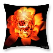 Flower Skull Throw Pillow