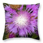 Flower Snowflake Throw Pillow