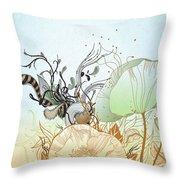Flower Sol Throw Pillow