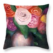 Flower Spirals Throw Pillow
