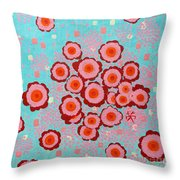 Flower Spreading  Throw Pillow