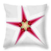 Flower Star 1 Throw Pillow