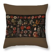 Flower Studies Throw Pillow