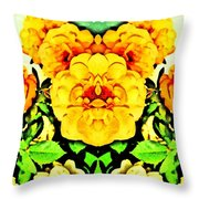 Flower Teddy Throw Pillow