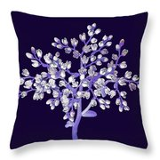 Flower Tree Throw Pillow