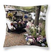 Flower Truck On Nantucket Throw Pillow