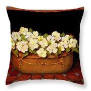 Flower Tub Rose Bay Throw Pillow