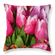Flower - Tulip - A Young Girls Delight Throw Pillow