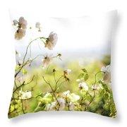 Flower Valley Throw Pillow