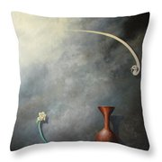 Flower, Vase And Bird 2 Throw Pillow