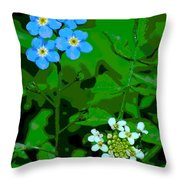 Flower Vision Throw Pillow