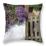 Flower Wall Throw Pillow