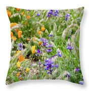 Flower Whispers Throw Pillow
