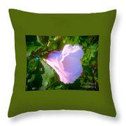 Flower With Painted Look Throw Pillow