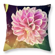 Flower With Scripture Throw Pillow