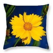 Flower Yellow Throw Pillow