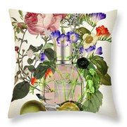 Flowerbomb Notes 3 - By Diana Van  Throw Pillow