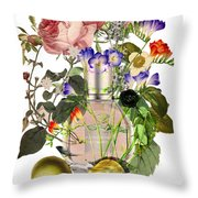 Flowerbomb Notes - By Diana Van Throw Pillow