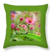Flowerdrop Throw Pillow