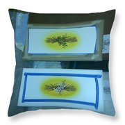 Flowered Doors 3 Throw Pillow